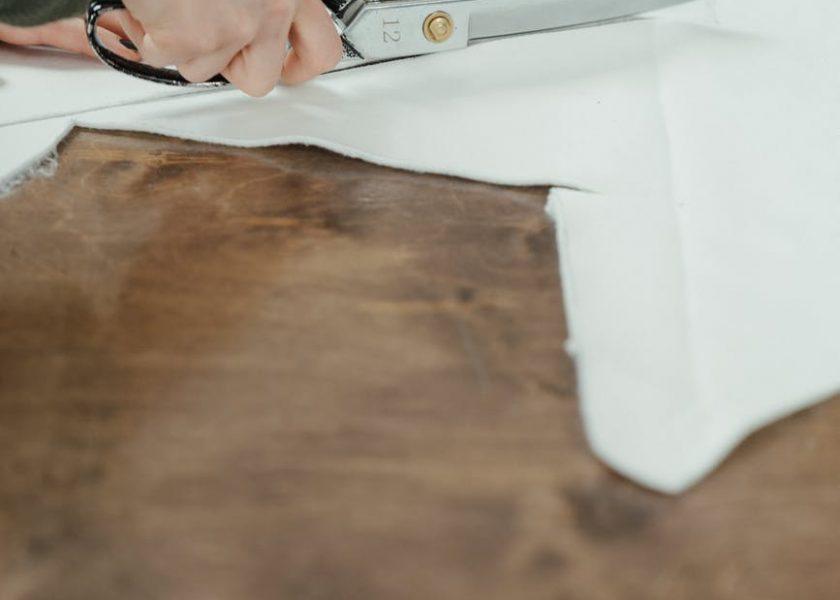Cutting Calico Fabric
